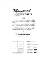 Title Page and Legend, Mountrail County 1958